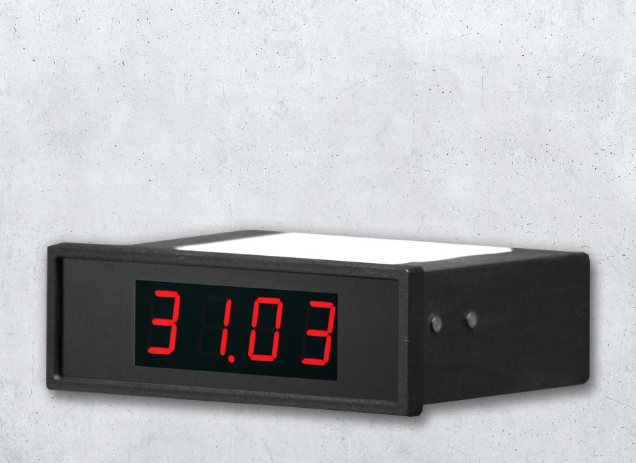 DA20 LED-Digitalanzeige 4-stellig mit 20 mm Zeichenhoehe und serielle Schnittstelle