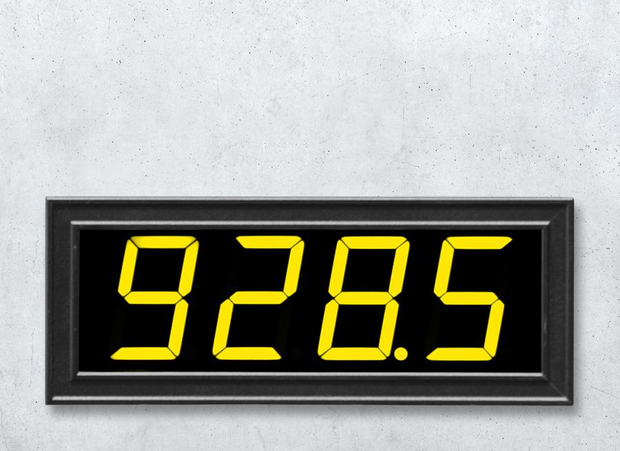 DA55 Digitale LED Anzeige im Schalttafel Einbaugehaeuse mit 2 Zählereingängen