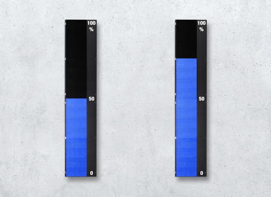 Leuchtbandanzeige Digital-Analog - Großformat Anzeige zur Füllstand Überwachung - LED blau superhell