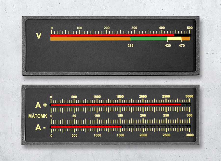 Digitale Bargraph LED Anzeige - einkanal und zweikanal Variante - mit 101 Leuchtband-Segmenten