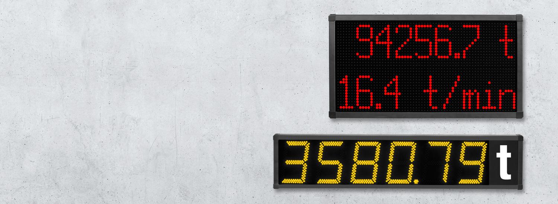 Digitale LED Anzeigen für Kransysteme und Krananlagen
