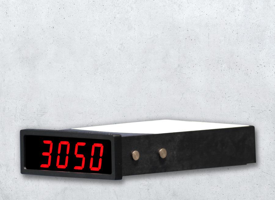 Digitales Panelmeter als LED-Anzeige im Einbaugehäuse