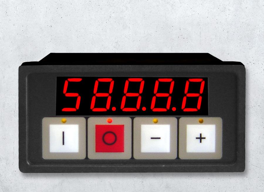 DSA13 LED Kleinanzeige im Schalttafeleinbaugehäuse 5-stellig mit 4 Tastern