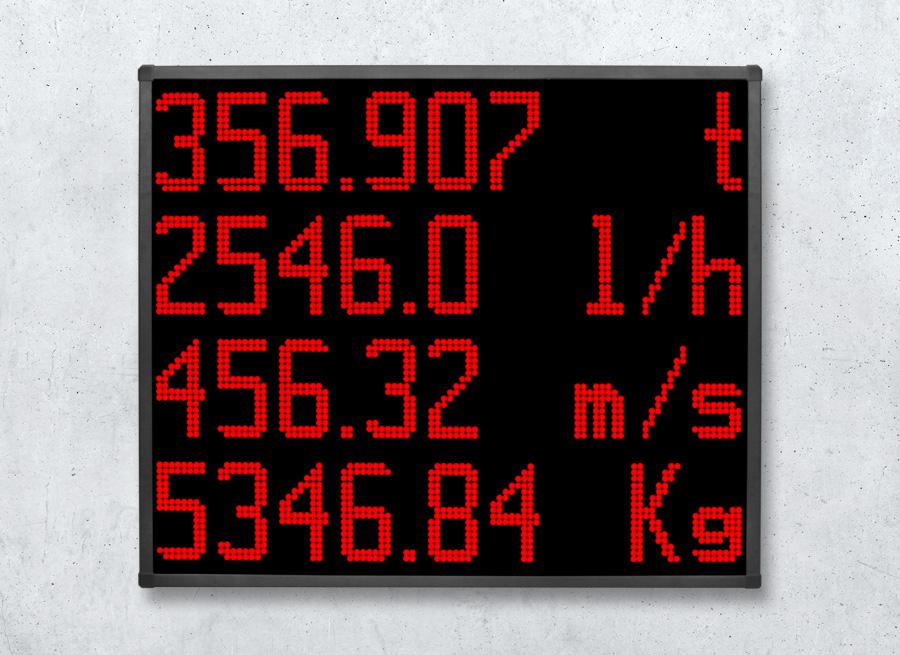 DSA155 LED Anzeigetafel für den Outdoor/Aussenbereich Einsatz zur Anzeige von Produktionsdaten