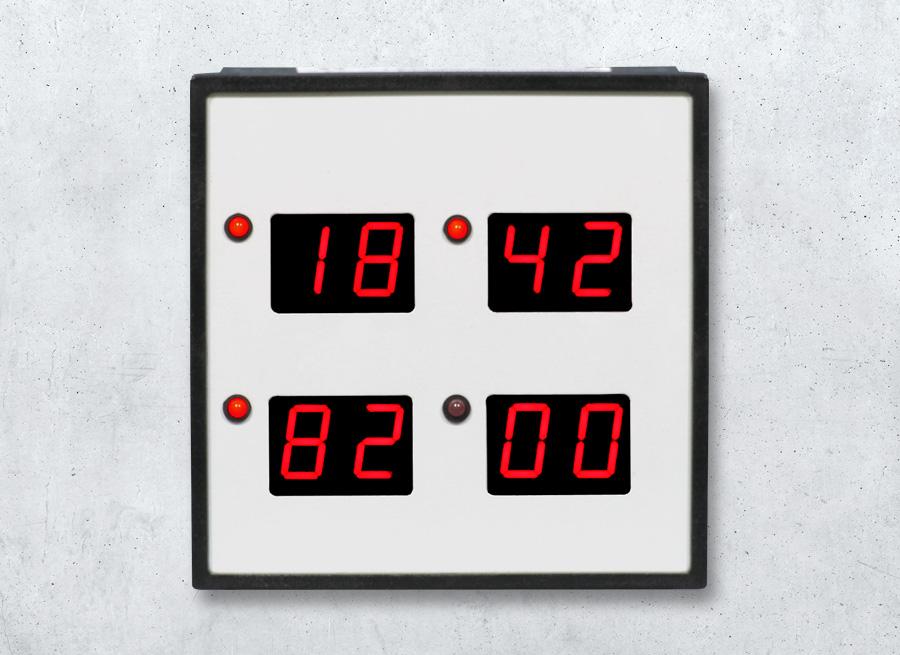 DSA20 LED-Anzeige 4-fach Display im Schalttafel-Einbaugehäuse