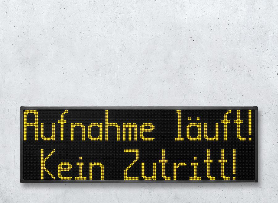 DSA204 Grosstextanzeige mit Zeichenhöhe 204mm und zwei Zeilen - LED gelb