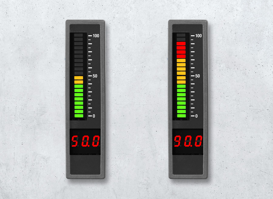 LED-Anzeige als Einbauanzeige mit PROFIBUS | Leuchtbandanzeige