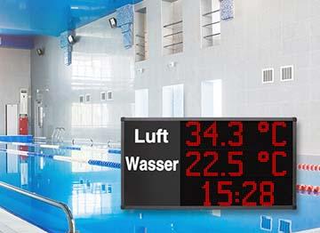 LED Anzeigen Datum, Uhrzeit und Temperatur