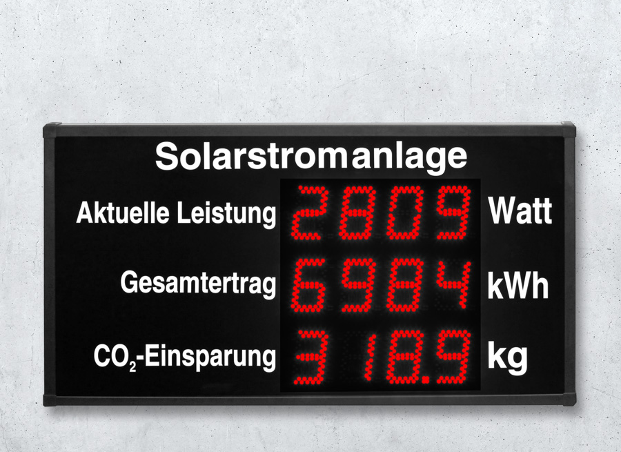 Photovoltaik Anzeige Solarstromanlagen Display
