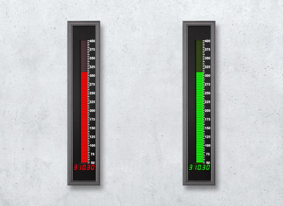 PROFIBUS Leuchtbandanzeige programmierbar für den Einsatz in der  chemischen Industrie - Digital-Analog