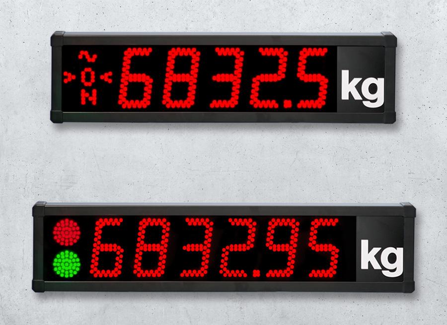 Waegetechnik digitale LED Anzeigen 120mm