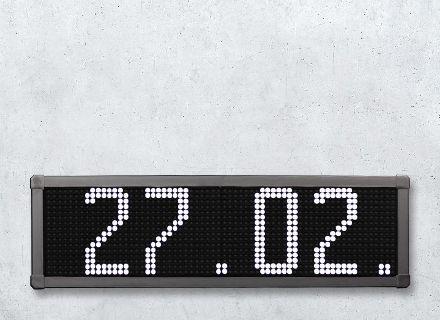 LED Wechselanzeige Datum und Uhrzeit
