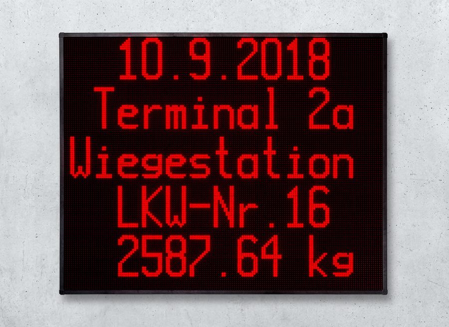 Wiegetechnik Anzeige für LKW Aufruf LED Anzeige
